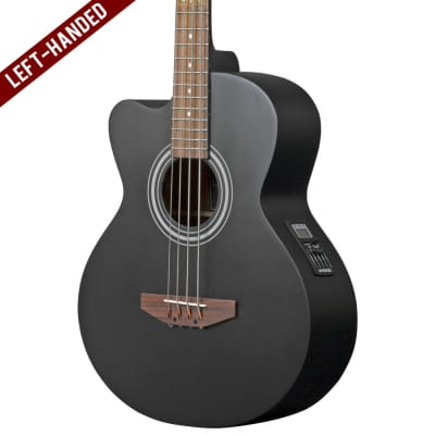 Lindo Left Handed ACB Series Electro Acoustic Bass Guitar - Matte Black for sale