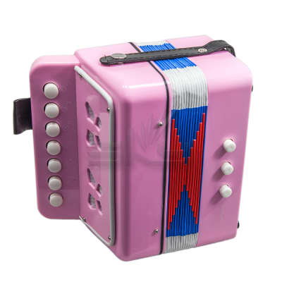 SKY Accordion Kelly Pink Color 7 Button 2 Bass Kid Music Instrument High Quality Easy to Play