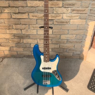 1997 Fender American Jazz Bass Deluxe Blueburst John Suhr Period for sale