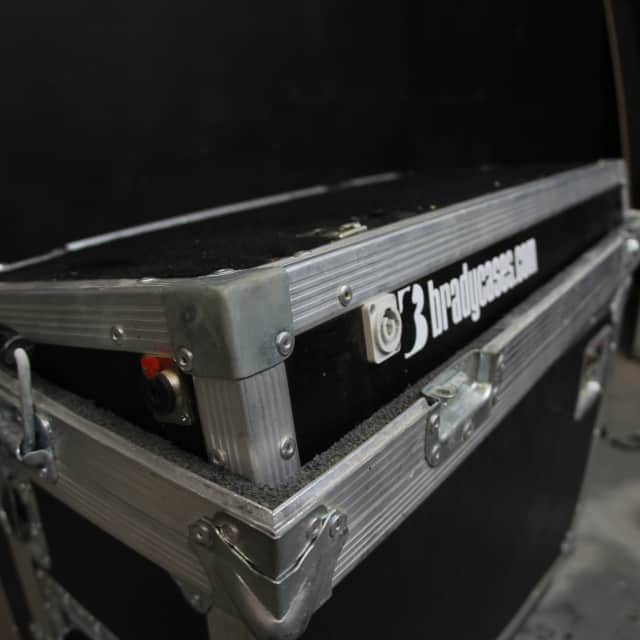 Brady Cases 28 x 12 used angled pedal board with jacks, upgrades, lightweight material, etc image