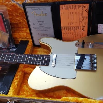 Fender Custom Shop '61 Reissue Telecaster Relic 2020 Aztek Gold for sale