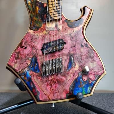 Barlow Guitars Condor 2020 Hybrid Buckeye Burl / Purpleheart / Pale Moon Ebony for sale