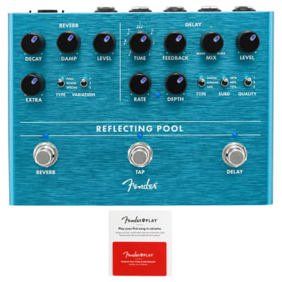 Fender Reflecting Pool Delay/Reverb Effects Pedal w/ Fender Play Card