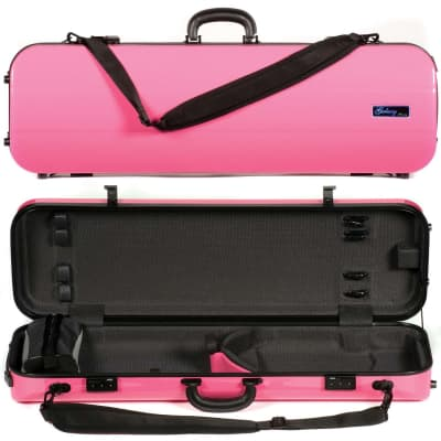 Galaxy Audio Galaxy Comet 500SL Oblong Pink Violin Case with Gray interior for sale