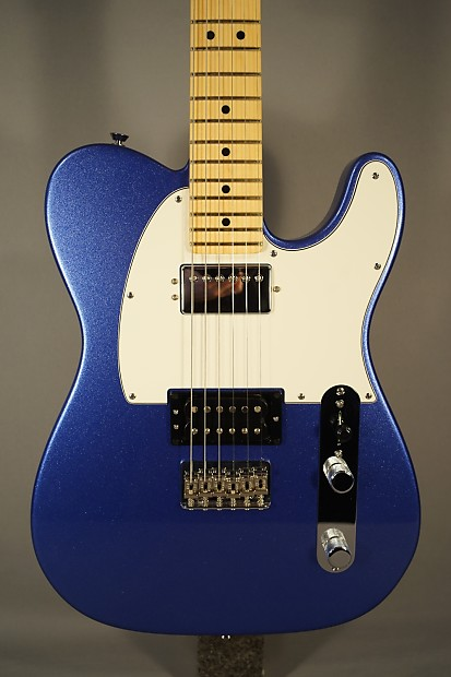 New Fender Telecaster Blue 2 Humbuckers And Case Reverb