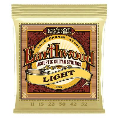 Ernie Ball Earthwood 80/20 Bronze Acoustic Guitar Strings - 11-52 Gauge - Light