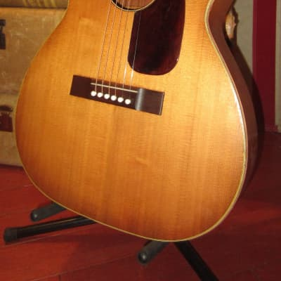 Vintage Circa 1965 Harmony H-162 Flat Top Acoustic Guitar Natural w/ Soft Case for sale