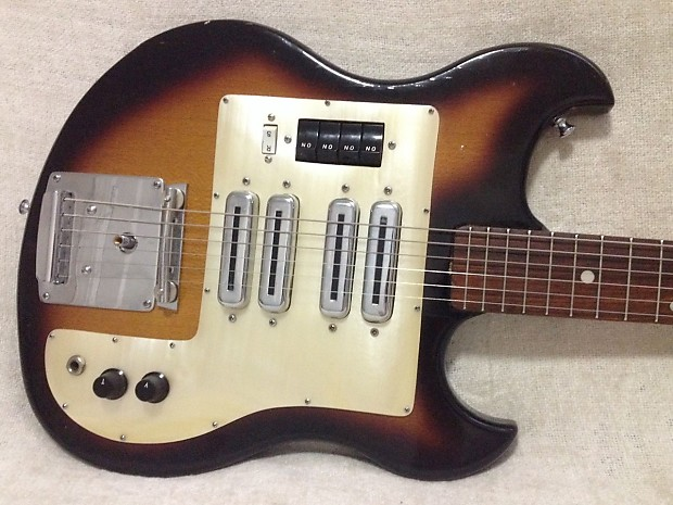 Teisco Telestar 4t 4 Pickup Guitar With Tremolo 1960s Reverb