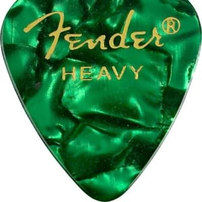 Fender 351 Shape Premium Picks - Heavy, Green Moto, 12 Pack for sale