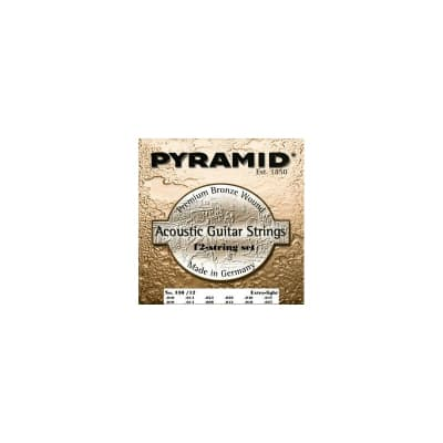 Pyramid Premium Phosphor Bronze Guitar 12 Strings Extra Light 10-47