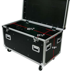 "OSP Cases | ATA Road Case | Utility Truck Pack Transport Case | 45"" with Dividers and Tray 