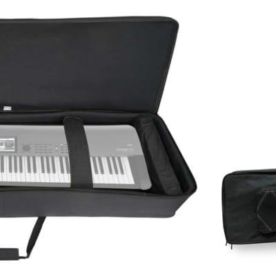 Rockville 88 Key Padded Rigid Durable Keyboard Gig Bag Case For Korg Krome EX