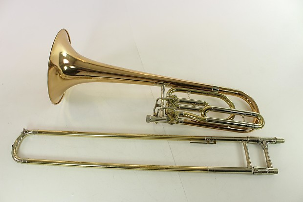 Elkhart Conn 62H Bass Trombone TUNING IN THE SLIDE!