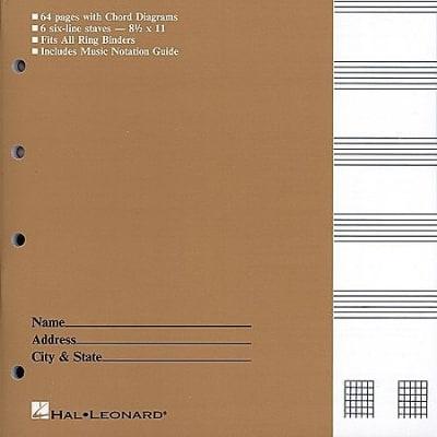 Guitar Tablature Manuscript Paper - Standard, Manuscript Paper