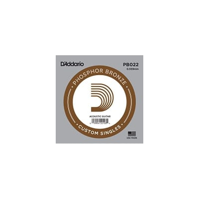 D'Addario Phosphor Bronze Acoustic Single String PB022