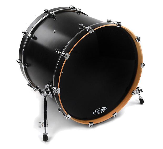 evans 20 eq1 resonant black bass drum head guitar reverb. Black Bedroom Furniture Sets. Home Design Ideas