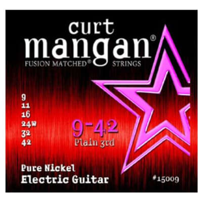 Curt Mangan Pure Nickel Strings - 9-42 - QUICK SHIPPING