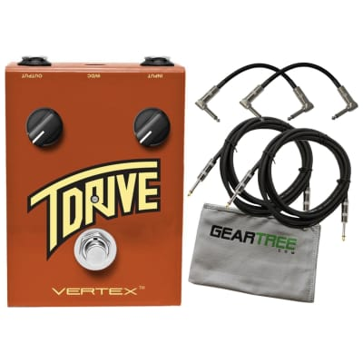 Vertex TDRIVE Overdrive/Distortion Pedal with Geartree Cloth and 4 Cables