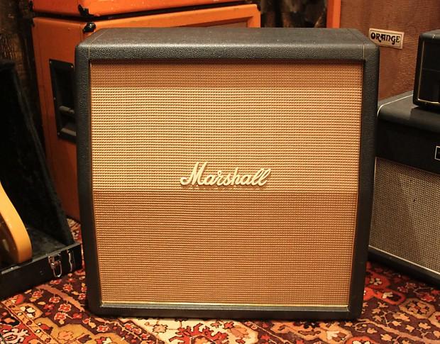 Vintage 1969 Marshall 1960a Angled 4x12 Basketweave Plexi Amp Cab Cabinet T1221
