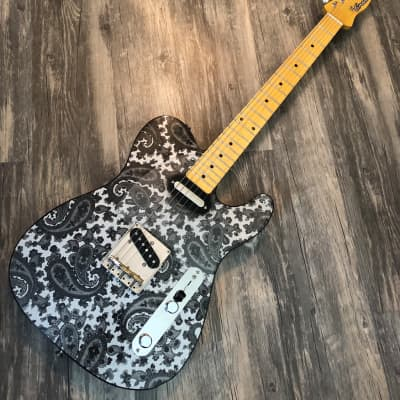 Crook Custom  Tele Silver/Black Paisley for sale