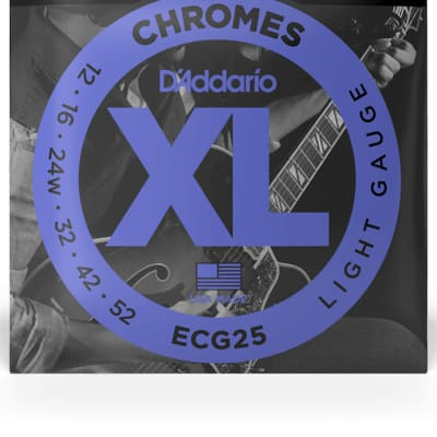 D'Addario ECG25 Chromes Flatwound Electric Strings -.012-.052 Light