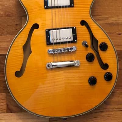 Galveston Semi Hollow Flame Top Guitar, Natural Finish, Humbuckers for sale