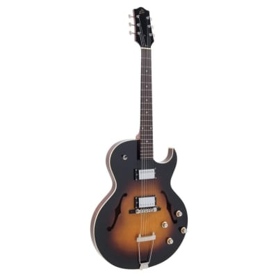 The Loar LH-304T Archtop Thinbody Cutaway Electric Guitar with Dual Humbuckers, Vintage Sunburst