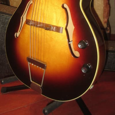 Vintage Circa 1961 Orpheum Hollow Body Electric Guitar DeArmond Pickup w/ soft case for sale