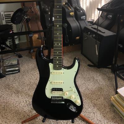 Fender Fender American Deluxe Stratocaster HHS Shawbucker 2015 Black for sale