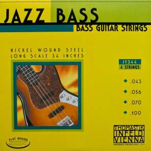 Thomastik-InfeldJF344 Jazz Flat Wound Nickel Roundcore Bass Strings - Medium (.56 - .100)