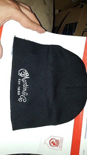 Martin guitars Beany Beanie Cap Hat Black Rare NEW  d94d25720276
