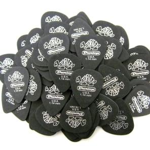 Dunlop Tortex Pitch Black Standard Guitar Picks - 1.14mm - 72 Pack