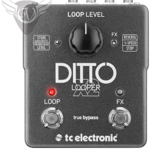 TC Electronic DITTO X2 LOOPER Pedal 24 Bit Quality Sound