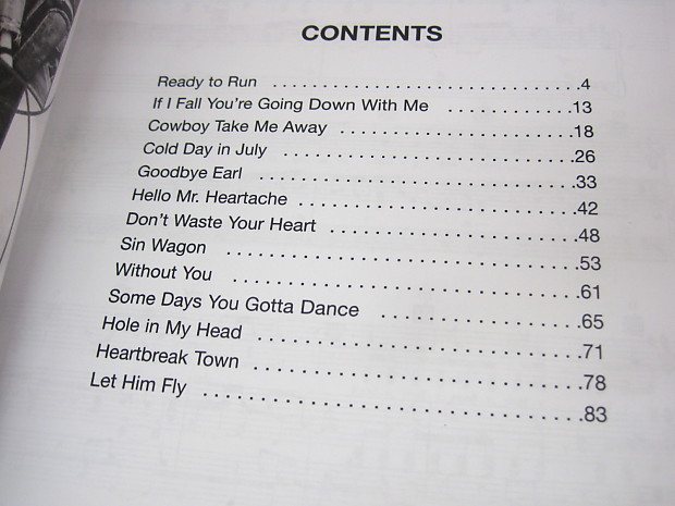 Dixie Chicks Fly Sheet Music Song Book Songbook Piano Vocal Reverb