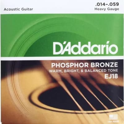 D'Addario EJ18 Phosphor Bronze Wound Acoustic Guitar Strings