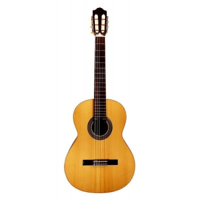 Almansa 403 Spanish Spruce Solid Top Natural Finish Classical Guitar for sale