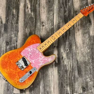 Crook Custom Guitars  Esquire w/ McVay G Bender Aged  Pink Paisley for sale