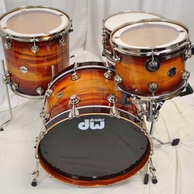 """DW 22/13/16/6.5"""" Santa Monica Series  Drum Set - Rare Padouk #1 Of 1"""