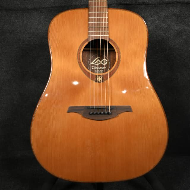 LAG T100DCE Stage Acoustic Guitar Natural (Left Handed) image