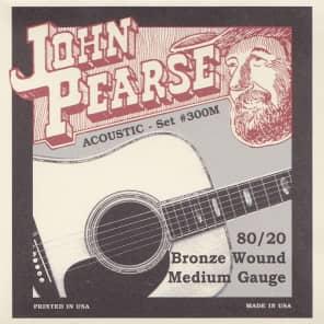 John Pearse Strings Acoustic Strings 80/20 Bronze Medium 13-56