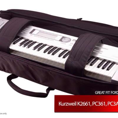Gator Cases Keyboard Gig Bag for Kurzweil K2661, PC361, PC3A6, PC3K6, PC3LE6