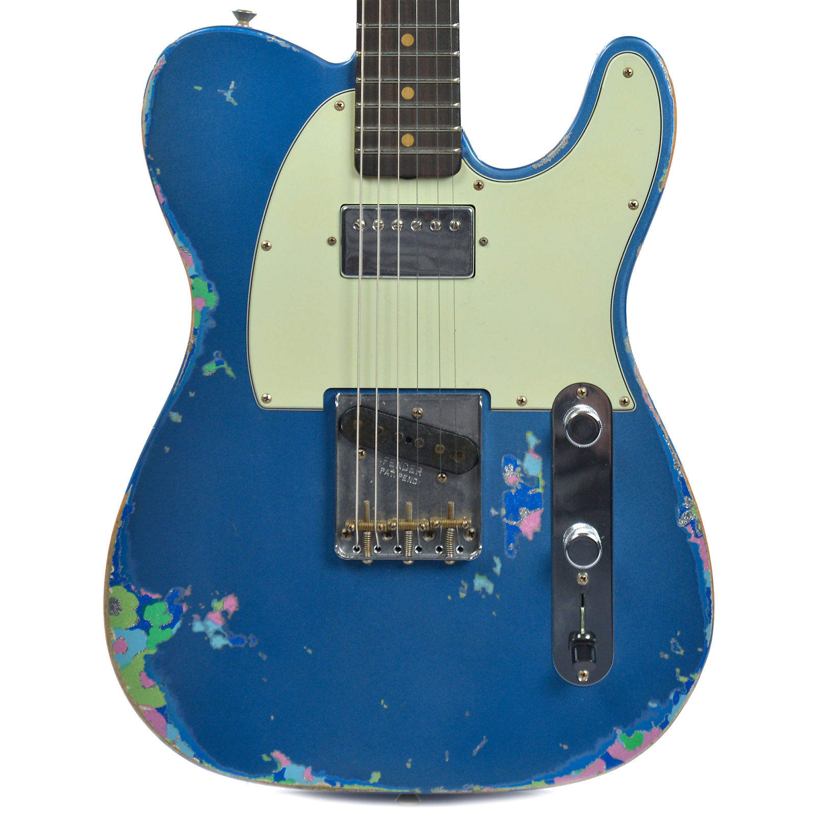 Limited 60s hs telecaster heavy relic aged lake placid blue over limited 60s hs telecaster heavy relic aged lake placid blue over blue flower fender custom shop electric guitars publicscrutiny Gallery