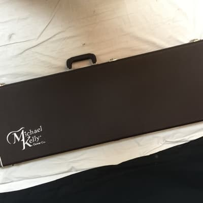 Michael Kelly Electric Bass Guitar Case - Brown Hard Shell NEW for sale