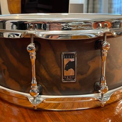 "Mapex BPWB4550CNEN Black Panther Retrosonic 14x5.5"" Walnut Snare Drum"