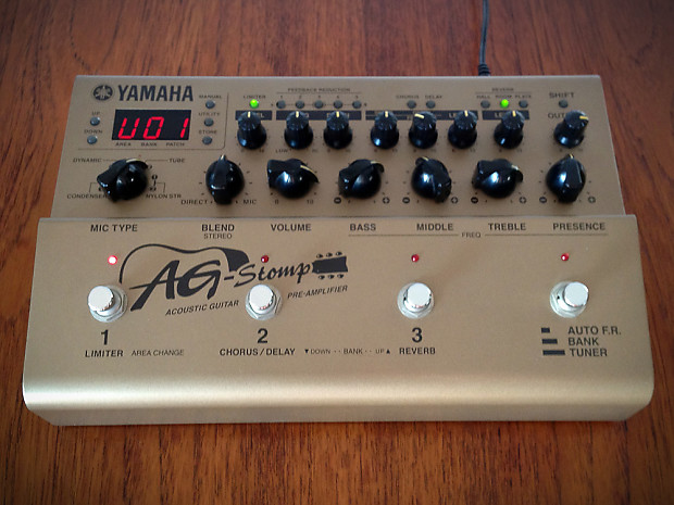 Yamaha Ag Stomp Acoustic Guitar Effects Pedal Preamp