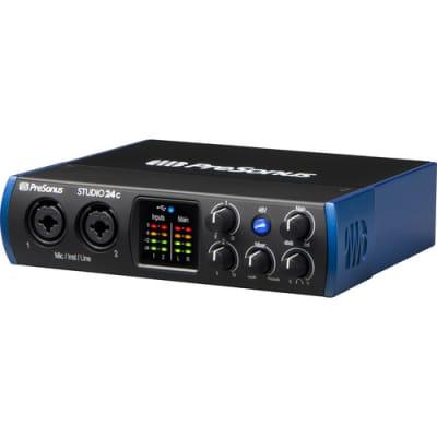 PreSonus Studio 24c 2x2 USB Type-C Audio/MIDI Interface (B-Stock)