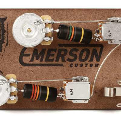 emerson custom les paul prewired kit wiring harness reverb