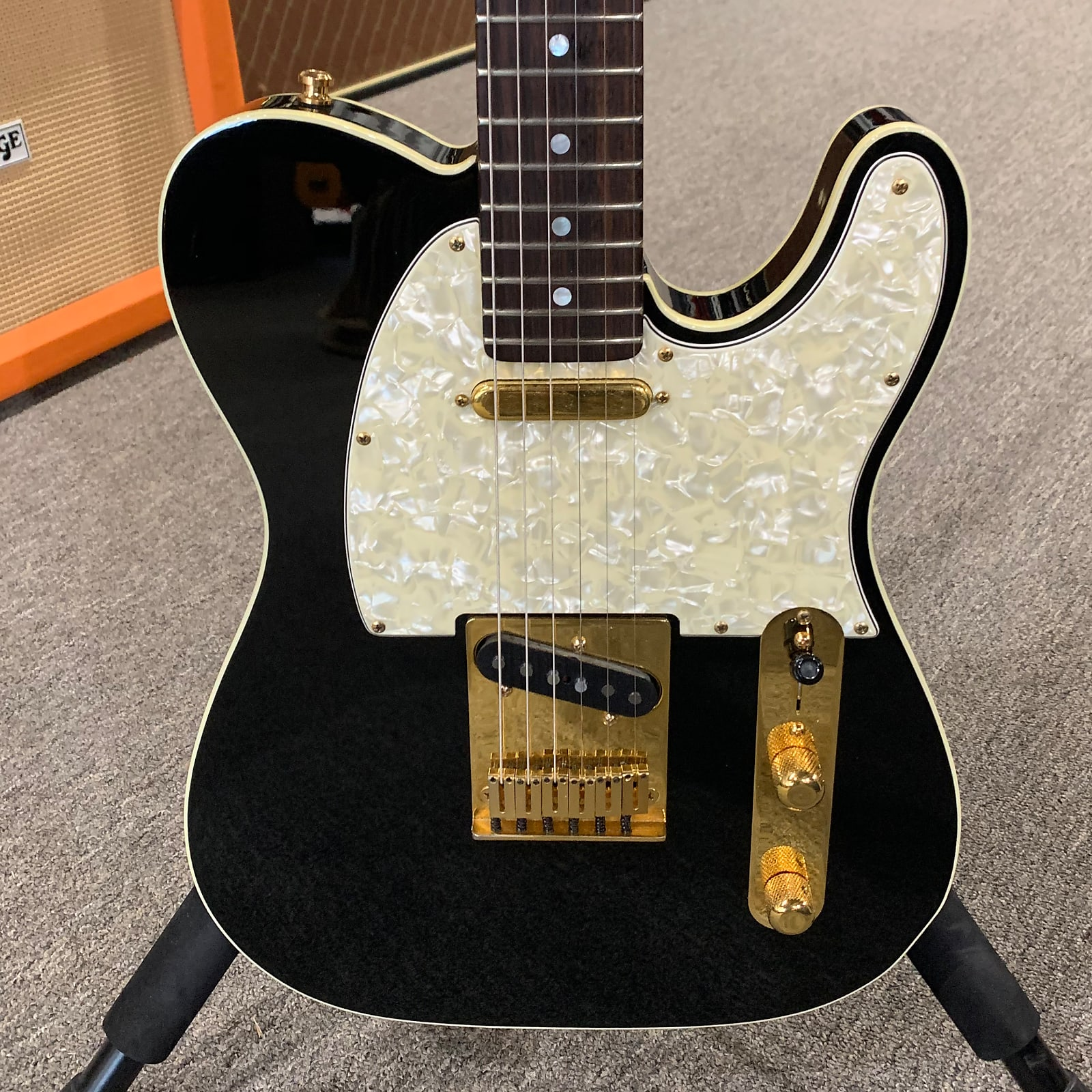 """1996 Fender Custom Shop Telecaster Bound """"Tuxedo Tele"""" - Black & white"""