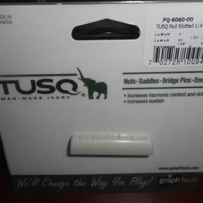 "Graph Tech PQ-6060-00 TUSQ 1-3/8"" E-to-E Slotted Epiphone-Style Guitar Nut"