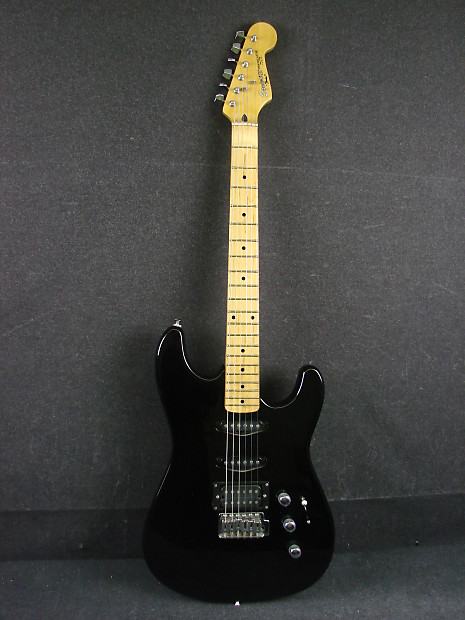 squier ii stratocaster by fender mik black electric guitar reverb. Black Bedroom Furniture Sets. Home Design Ideas